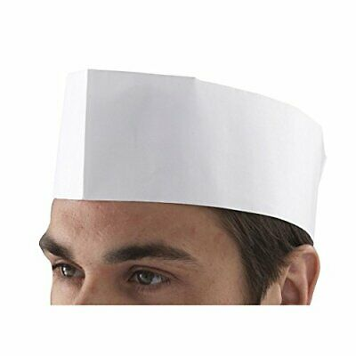Genware NEV-DM07W Forage Hat, Chefs Disposable Paper Pack of 100