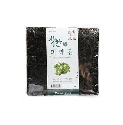 100 Sheets Korean Roasted Dried Laver Parae Seaweed Yaki Sushi Nori gimbab Foods