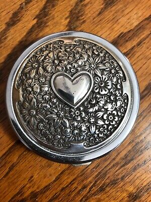 Brighton Compact Mirror Regular and Magnifying Heart