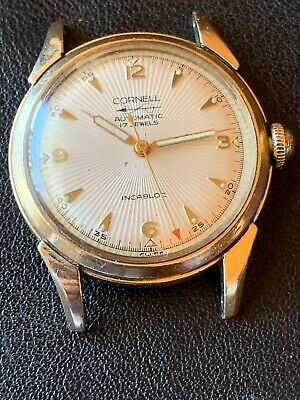 cdf71eaac746 Rare Vintage Mens Swiss Cornell 17j Automatic Gold Tone Watch Running 34mm