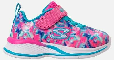 Girls' Toddler Skechers Jumpin Jam Hook-And-Loop Closure Running Shoes, Size 5C