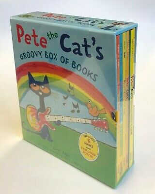 Pete the Cat Hardcover Childrens Books Groovy Box Gift Set with Poster Lot 6