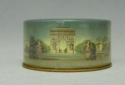 Vintage Coty Air Spun Face Powder Box  2.64 oz Empty Box No Puff    Paris Scenes