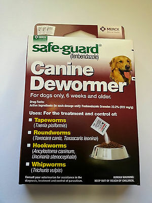 Dog Puppy Animal Wormer FENBENDAZOLE Broad Spectrum Pet Dewormer Safeguard 40lb
