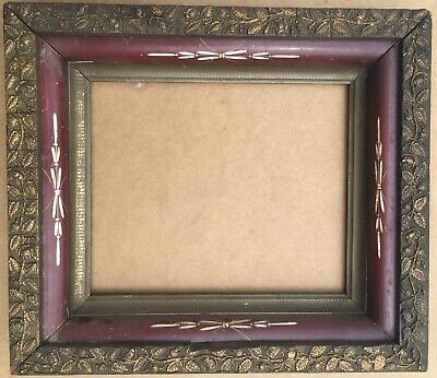Ornate Antique Dutch School Gold Gesso & Wood Picture Frame / Shadow Box Frame