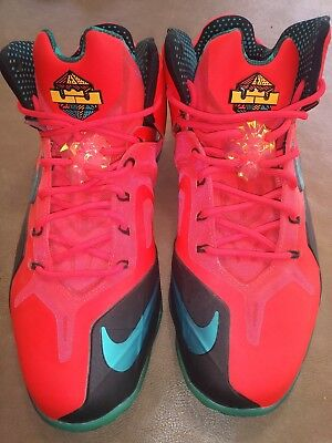 6b191826615a2 Nike Lebron Xi 11 Elite Super Hero Pack Laser Crimson Turbo Sz 11  642846-