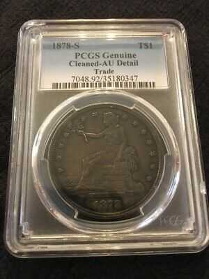 1878 S Trade Dollar Pcgs Au Details -Certified Slab- Pcgs Graded Trade Dollar $1