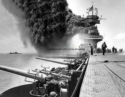 """Japanese attack USS Yorktown during Battle of Midway 8""""x 10"""" WWII WW2 Photo 235"""