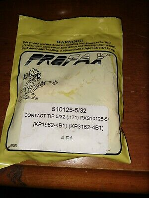 PROFAX S10125-5/32 CONTACT TIP SUBARC LINCOLN PART NUMBER KP1962-4B1 lot of 5