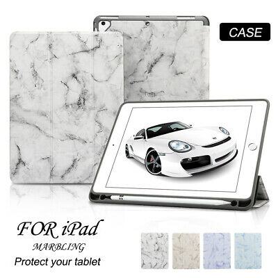 "Tri-fold Stand Marble Case for iPad 10.2"" 9.7"" Mini Air Pro Smart Magnetic Cover"
