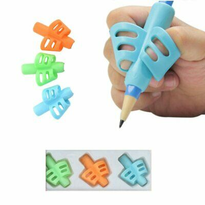 Kids Baby Pencil Holder Pen Writing Aid Grip Posture Tools Correction AS
