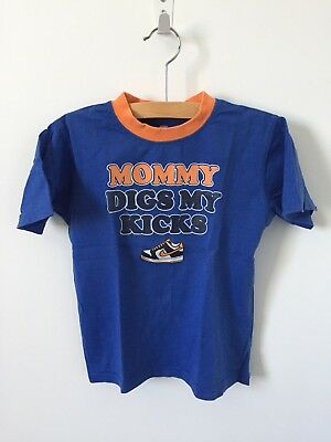 "Nike Toddler Boys Royal Blue ""Mommy Digs My Kicks"" Short Sleeve T-Shirt Size 3T"