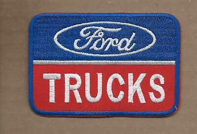 New 2 1/2 X 3 5/8 Inch Ford Trucks Iron On Patch Free Shipping