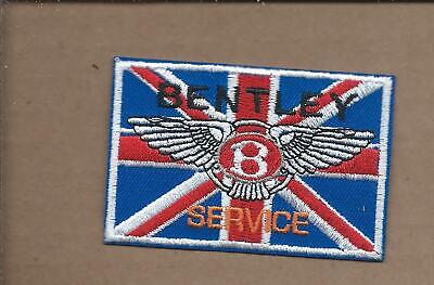 New 2 X 3 Inch Bentley Service Iron On Patch Free Shipping