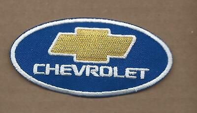 New 2 X 4 1/8 Inch Chevrolet Oval Iron On Patch Free Shipping