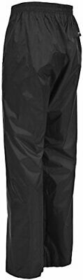 Trespass Packup Trouser, Black, XXL, Compact Packaway Waterproof Trousers with 3