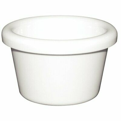 Kristallon T557 Melamine Plain Ramekin, White Pack of 12