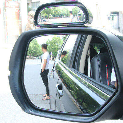 2 Pcs Car Rearview Blind Spot Wide Angle Adjustable Side Rear View Convex Mirror