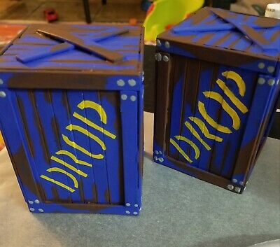 5 Fortnite Inspired Drop Box Boxes Party Supplies 12 50 Picclick