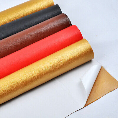 Faux Leather Fabric Solid Color Suede Synthetic Self-adhesive Leather Fabric