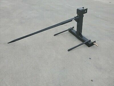 "Category 1 Tractor 3 Point Attachment w/49"" Hay Spear & 2 20"" Stabilizers"