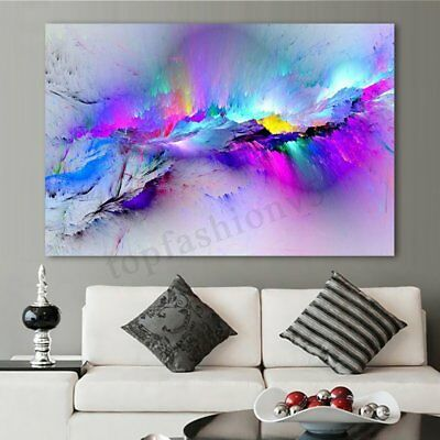 Abstract Colorful Cloud Painting Classical Canvas Print Wall Art Home Decor