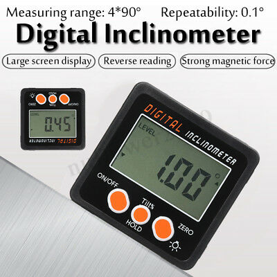 Digital LCD Protractor Inclinometer Angle Meter Finder Gauge Level Box 0.05