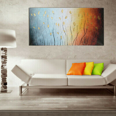 Abstract Leaves Art Canvas Painting Oil Print Picture Wall Home Decor No