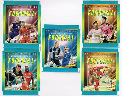 PANINI 5 different sealed packets   Belgian Pro League 2018   Football Belgium