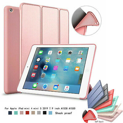 Stand Case Smart Silicone Ultra Slim Soft TPU Back Cover For iPad Mini 1234 9.7""