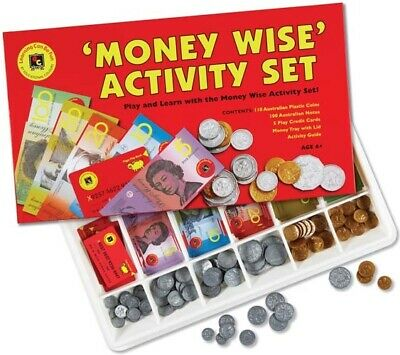 Australia Play Money Set Notes Coins & Credit Card Teacher Resource Pretend Play