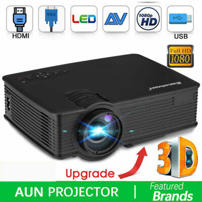Mini Portable Projector 3D LED HD Home Theater Cinema HD 1080p Baby Gift HDMI