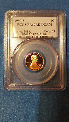 1990-S Lincoln Cent Proof 69 Red DCAM – PCGS #72451408