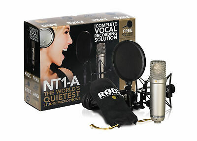 New!!! RODE NT1A Studio Condenser Microphone Recording Package Free Postage