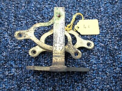 4e. Original Antique Double Brass Servant or Door Bell Cable Wire Crank or Hinge