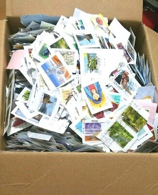 4.8 kg  COLLECTION OF USED AUSTRALIAN STAMPS KILOWARE HEAPS AND HEAPS