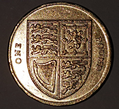 £1 Pound 2015 Shield of the Royal Arms Circulated British Coin Collectable