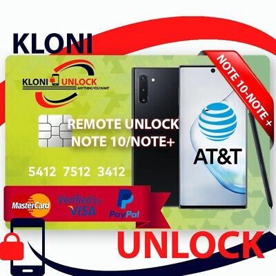 Instant Remote Unlock Code At&T Cricket Xfinity Samsung Galaxy Note 10/Note+