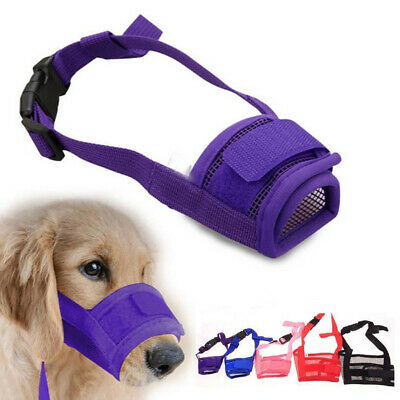 S-2XL Nylon Adjustable Pet Dog Grooming Muzzle Mouth Mask Cover No Bite Bark