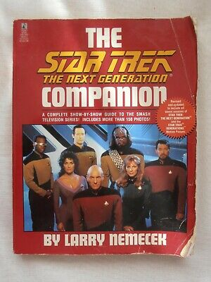 1995 Signed Larry Nemecek Star Trek The Next Generation Companion