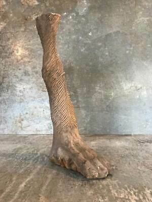 Vintage Hand Carved Decorative French Wooden Animals Foot Sculpture Figure