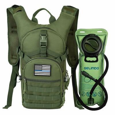 15L Military Tactical Backpack Hydration Pack With 2L Water Bladder Bag Hiking