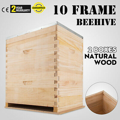 Bee Hive, Langstroth 10 Frame w/ honey super, 1 Medium 1 Deep Box Free Shipping!