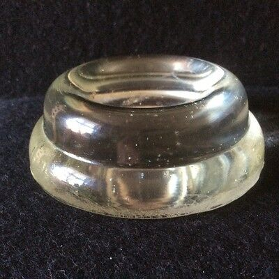 A Very Nice Victorian Pressed Clear Glass Piano Insulator, Rest ,Foot,Castor Cup