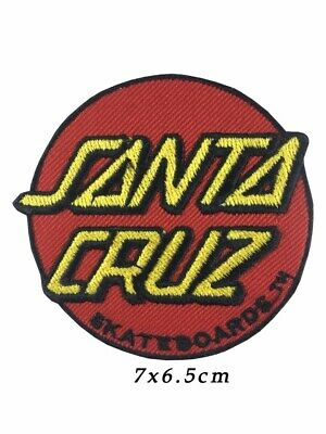 Speed Wheels Santa Cruz Screaming Skateboard Embroidered Iron on Patch A1028