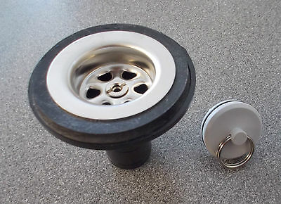Caravan or Motorhome angled 39mm Reich sink waste outlet for bowl SWA14