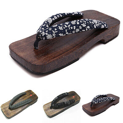630292c62c39 Sandals Flip Flops Slippers Japanese Style Wooden Clogs Timber Thong Shoes  Geta