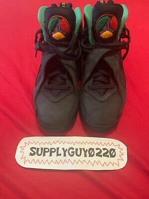 8f195f340393b2 Air Jordan Retro 8 Air Raid Urban Jungle Black Concord Verde 305381-004 Sz  10