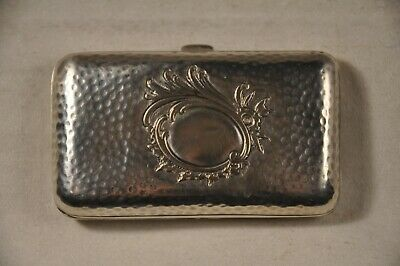 Etui Cigarette Ancien Argent Massif 800 Antique Solid Silver Cigarette Case 73Gr