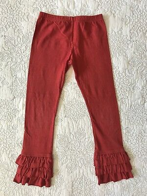 Persnickety Sz 5 Red Triple Ruffle Leggings In Cranberry GUC